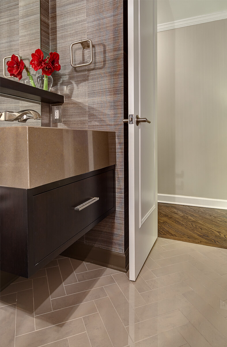 Classic Inspired Powder Room